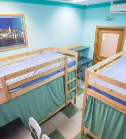 Кровать в 4х местном общем номере