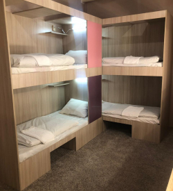 №6 кровать в женском 4х местном номере с общей ванной комнатой